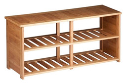 Bamboo Shoe Bench Rack Closet Entryway Organizer -Holds up to10 Pairs - $2.029,61 MXN