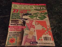 McCall's Quick Quilts Magazine April May 2012 Spinwheels - $2.99