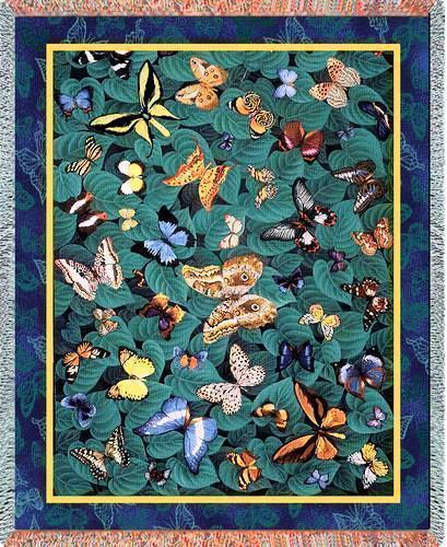 70x54 BUTTERFLY Butterflies Afghan Throw Blanket