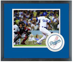 Andre Ethier 2014 Los Angeles Dodgers - 11 x 14 Team Logo Matted/Framed Photo - $42.95
