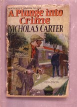 NEW MAGNET LIBRARY-#1218-PLUNGE INTO CRIME-NICK CARTER FR - $31.53