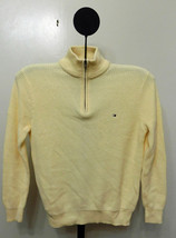Tommy Hilfiger Beige Pearl Gift Tower Men's 1-4 Zip Sweater - Size Large - €25,66 EUR