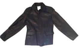 Women's Black Leather Jacket - $50.00