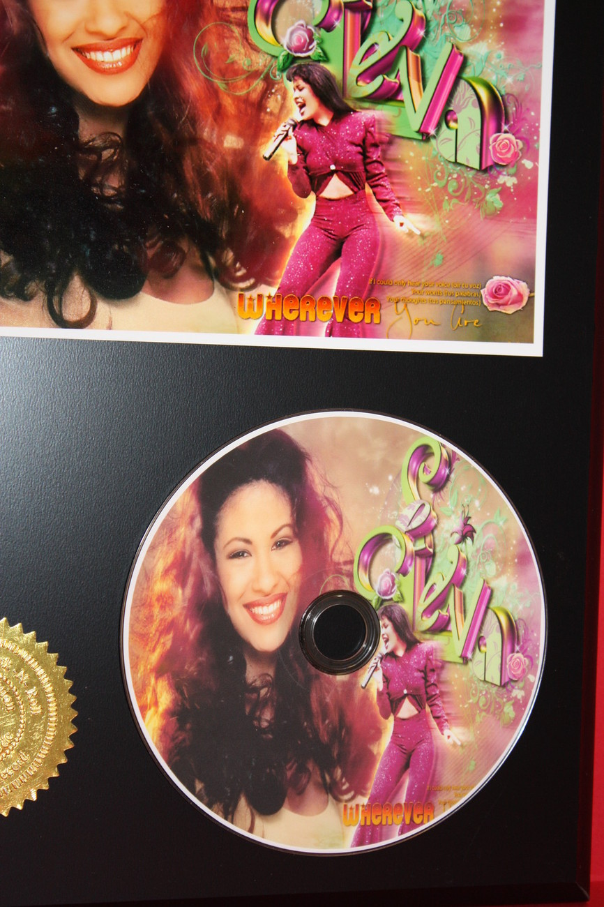 SELENA LIMITED EDITION PICTURE CD DISC COLLECTIBLE RARE MUSIC DISPLAY
