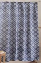 Threshold Textured Blue Ikat Fabric Shower Curtain 72x72 Nwop - $15.29