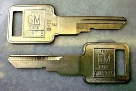 3 CURTIS B-46 B46 KEY BLANKS GM 1154608 METAL HEAD STAMPED J
