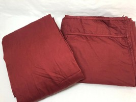 Ralph Lauren Estate Sateen Solid Red 2-PC King Flat and Fitted Sheets - $108.00
