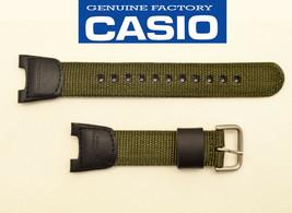 CASIO Original Twin Sensor  WATCH BAND Strap SGW-100B SGW100B Green Cloth - $25.95