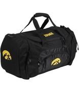 NCAA Iowa Hawkeyes Roadblock Duffel Bag Gym Travel Big Ten Black - $25.69