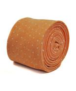 Frederick Thomas peach/orange spotted tie 100% cotton linen FT2177 - $18.25