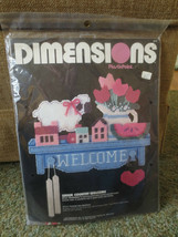 Dimensions WARM COUNTRY WELCOME PlasticPoint/ Needlepoint SEALED Kit #2539 - $5.94