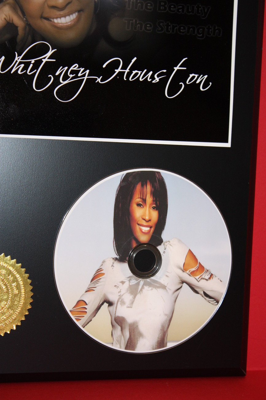 WHITNEY HOUSTON LIMITED EDITION PICTURE CD DISC COLLECTIBLE RARE MUSIC DISPLAY