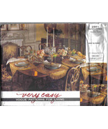 Vogue 2861 Pattern Napkins Tablecloth Placemats table Runner very easy d... - $14.77