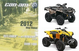 2012 Can-Am Outlander Renegate 800R 1000 Service Repair Shop Manual CD -... - $12.00