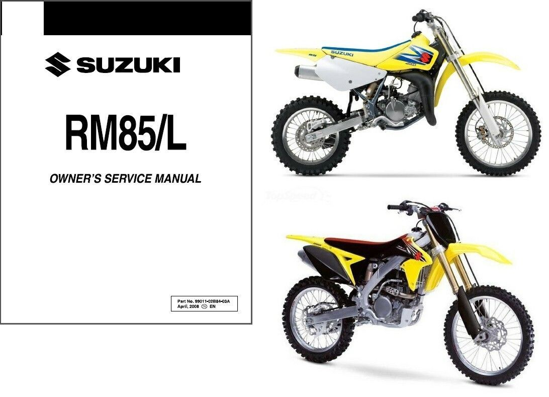 2006-2013 Suzuki RM85 RM85L Service Repair Workshop Manual CD ---  RM 85 L 85L