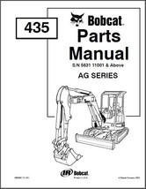 Bobcat 435 Compact Mini Excavator Parts Manual CD - $12.00