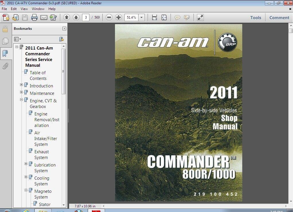 can am commander 800r 1000 service repair and 4 similar items rh bonanza com can am commander workshop manual 2012 can am commander parts manual