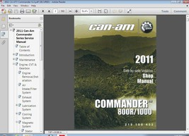 Can-Am Commander 800R 1000 Service Repair Manual CD - BRP Bombardier Can... - $12.00