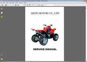 Aeon Cobra 220 ATV Service Repair Manual CD