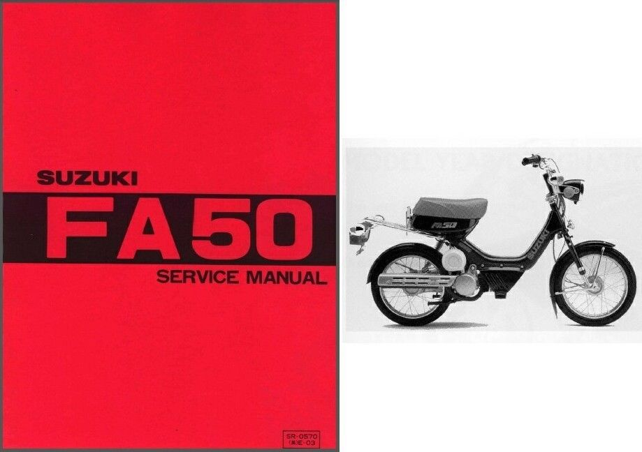 Suzuki FA50 Moped Service Repair Workshop & Owner's Manual CD  -  FA 50