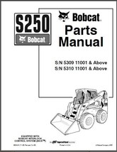 Bobcat S250 Skid Steer Loader Parts Manual CD -- S 250 S-250 - $12.00
