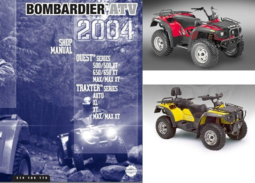2004 can am traxter quest atv service repair and 50 similar items rh bonanza com Bombardier XL 500 Traxter Starter 01 Bombardier Traxter 500 Carburetor