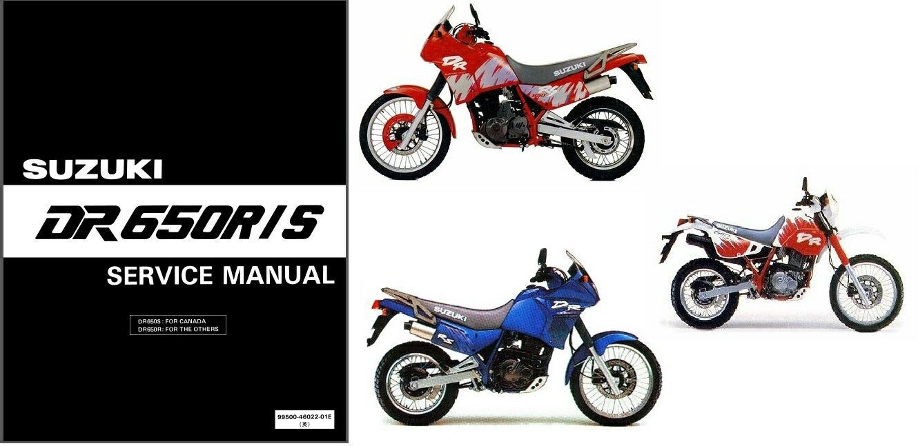 1992-1995 Suzuki DR650R DR650S Service Repair Manual CD ---- DR650 R S DR  650 - $12.00