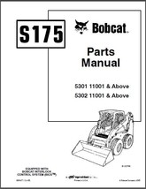 Bobcat S175 Skid Steer Loader Parts Manual CD  -----  S 175  S-175 - $12.00