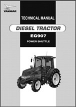 Yanmar EG907 Diesel Tractor Repair Service Workshop Manual CD --- EG 907 - $12.00