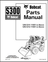 Bobcat S300 Skid Steer Loader Parts Manual CD --- S 300 - $12.00