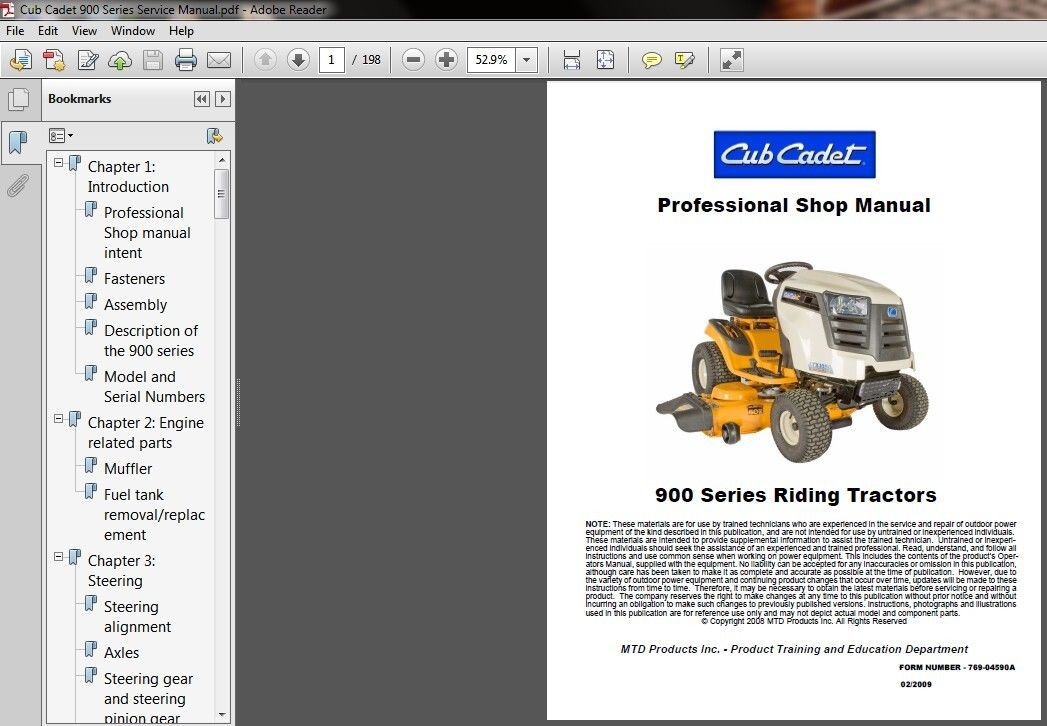cub cadet volunteer service manual pdf expert user guide