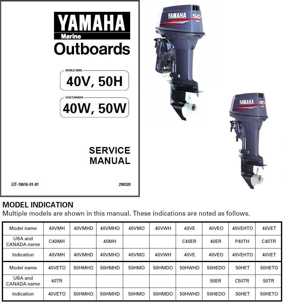 Yamaha 4hp 2 Stroke Outboard Service Manual