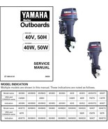 Yamaha 40 / 50 HP 2-Stroke Outboard Motor Service Repair Workshop Manual CD - $12.00