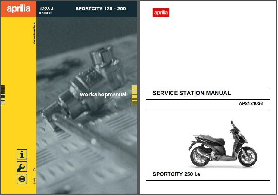 aprilia sportcity 125 200 250 scooter service repair. Black Bedroom Furniture Sets. Home Design Ideas