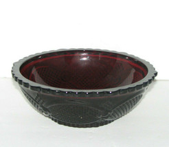 Avon Ruby Red Cape Cod Bowl 1986 Centennial Edition - $29.98
