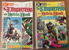 The Three Musketeers & Robin Hood #22 23 DC Special Comic Book Lot 1976 ... - $7.99
