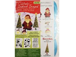 DecoArt Laurie Speltz's Instant Images Template Tools Santa & Company #IIJ09