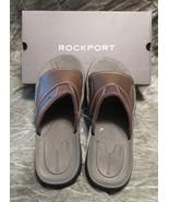 Men's Rockport Coast Creek Slide Brown Leather Sandal Size 12 - $54.45