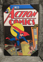 NEW Action Comics #23 Superman Vintage Wooden Wall Art - $31.68