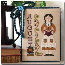 August Calendar Girl #8 cross stitch chart Little House Needleworks - $5.40