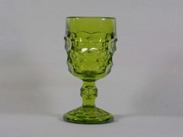 Viking Art Glass Georgian Avocado Wine Goblet 6909, Signed, Olive Green ... - $28.00
