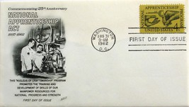 Aug. 31, 1962 First Day of Issue Fleetwood Cover National Apprenticeship... - $1.64