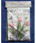 NEW 1993 PFALTZGRAFF LINEN KITCHEN CALENDAR TOWEL TULIPS FLORAL - $17.77