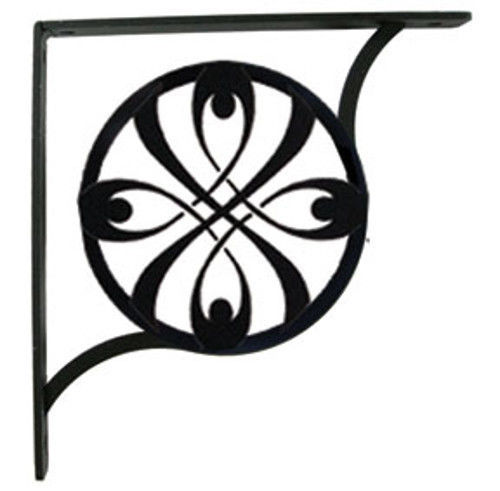 "Primary image for Wall Shelf Bracket Pair Of 2 Ribbon Pattern Wrought Iron 7.25"" L Crafting Accent"