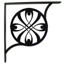 "Wall Shelf Bracket Pair Of 2 Ribbon Pattern Wrought Iron 7.25"" L Craftin... - $43.99"