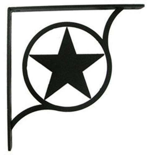 "Primary image for Wall Shelf Bracket Pair Of 2 Western Star Pattern Wrought Iron 5.25"" L Crafting"