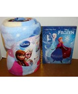 Disney Frozen Anna & Elsa Plush Blanket Throw + Little Golden Book Froze... - $38.00