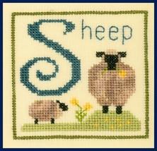 S is for Sheep SC31 mini cross stitch chart Elizabeth's Designs  - $3.60