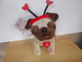 Hallmark Valentine Luv Pug, animated plush toy - $19.99