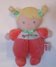 My Little Doll Soft Cloth FISHER PRICE Girl Peach Orange Pajamas Blonde ... - $17.77